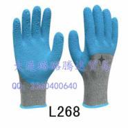 粗涤棉纱线天然乳胶发泡手套图片