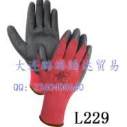 红宇粗涤棉纱线天然乳胶皱纹手套图片