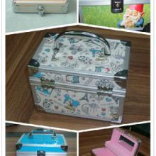 东莞市莱迪铝箱制品厂供应铝合金化妆箱饰品收纳盒图片