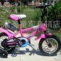12寸粉儿童自行车图片
