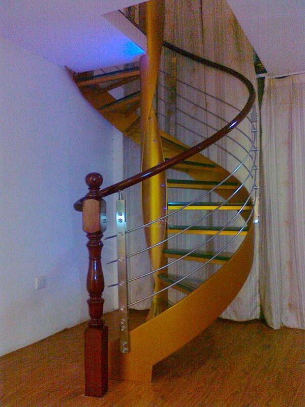 不锈钢扶手旋转楼梯图片图片