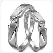 爱朵钻18K金钻石戒指/白金情侣钻石图片