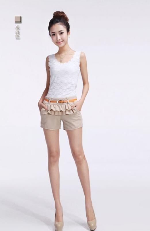 工厂直销小额服装批发2013最流行女装批发时尚短裤便宜批高清图片