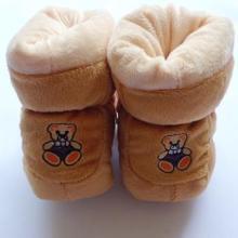 供应可爱宝宝鞋保暖卡通棉鞋防滑点塑底批发