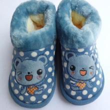 供應童棉鞋棉拖鞋冬季新款高幫中童棉鞋圖片