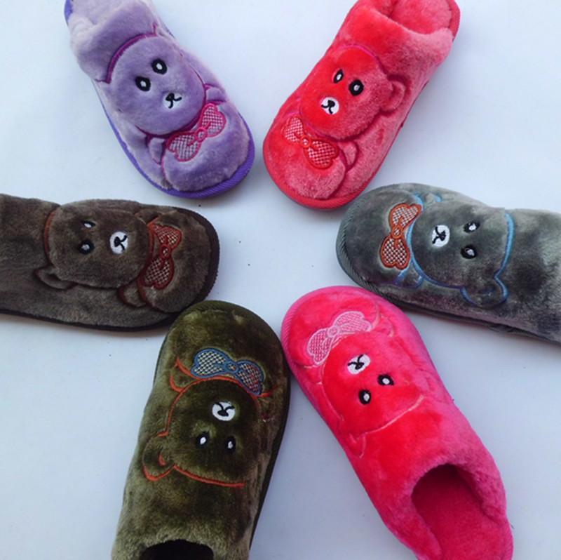 供应新款保暖棉拖鞋情侣鞋小熊棉拖鞋