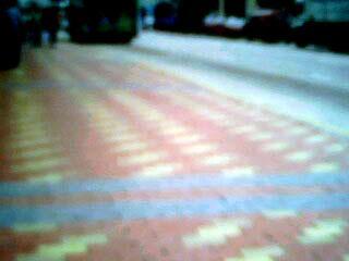 大小方格砖磨石砖人行道彩砖样板 高清图片