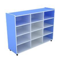 供应幼儿园家具12格储物柜/活动室/玩具柜