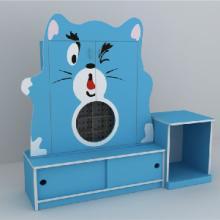 幼儿园家具幼儿茶杯柜卡通造型42格木质智拓星幼教设备广东图片
