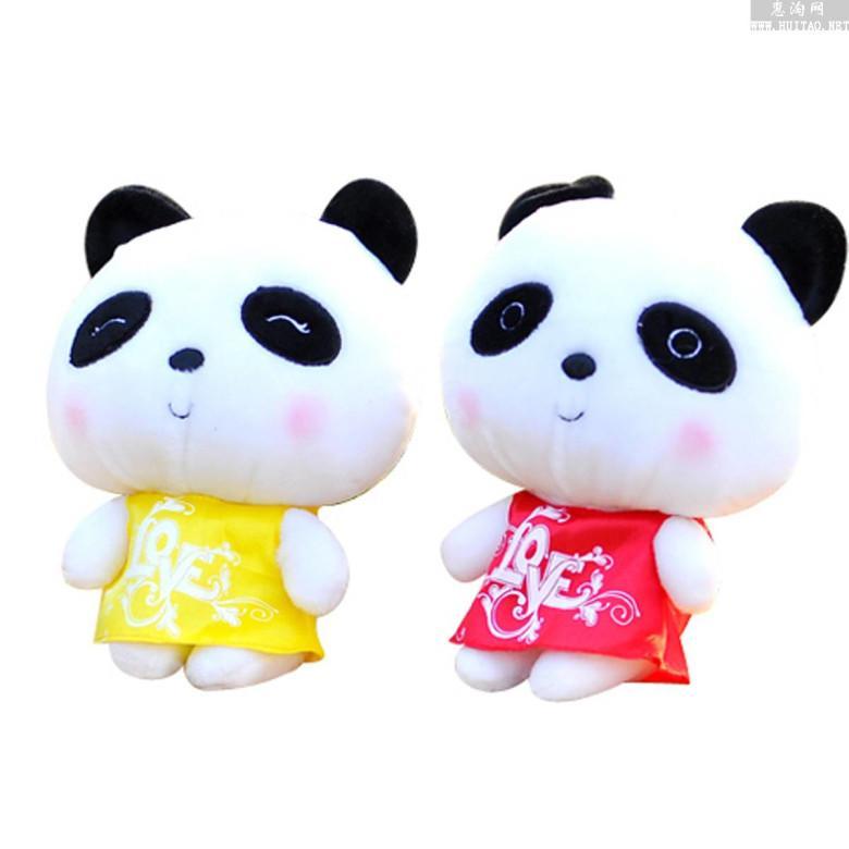 可爱情侣熊猫公仔图片