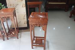 东阳木雕古典红木小件红木花架批发图片