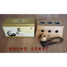 供应竹制三孔艾灸盒批发三眼温灸盒