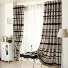 供应义乌客厅卧室窗帘、棉麻混纺义乌窗帘0629-0913 现代风格窗帘批发