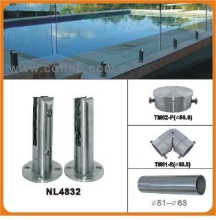 不锈钢泳池玻璃夹图片高清图片