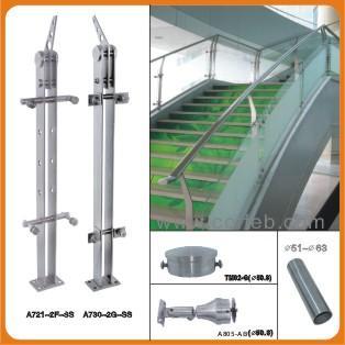 钢楼梯扶手图片/钢楼梯扶手样板图 (1)