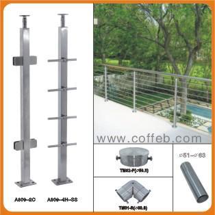 钢楼梯扶手图片/钢楼梯扶手样板图 (2)