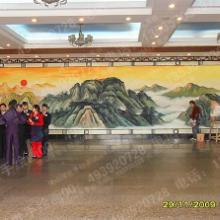 供应酒店大堂大型背景墙绘,墙绘  佛山  肇庆图片