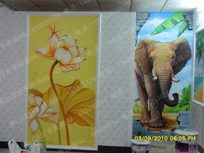供应展厅手绘墙画墙绘