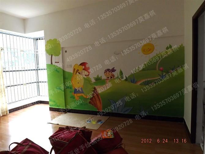 供应儿童房卡通手绘墙 墙画 彩绘 佛山 肇庆