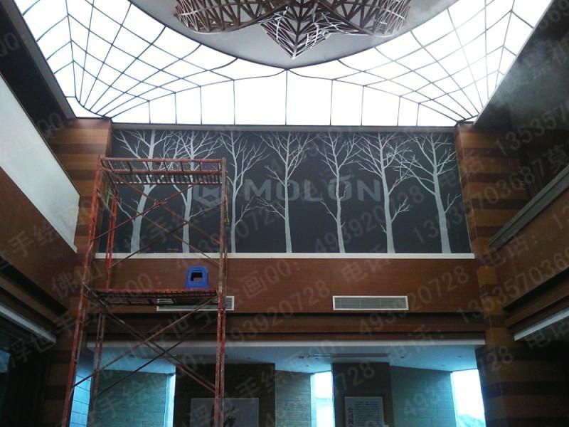 供应陶瓷展厅手绘墙画 墙绘彩绘 佛山 肇庆