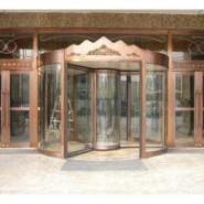 甘肃创金泽全自动铜旋转门,外观气派,奢华,安全性能卓越、