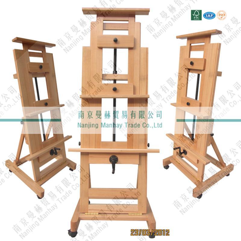 单摇杆大画架木制画架MDHJ 2图片