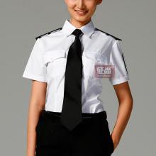 供应商场白色女保安服