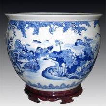 园林用品-青花山水瓷缸