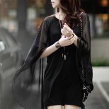 2013韩版新款女装个性十足斗篷披肩雪纺修身连衣裙特价包邮
