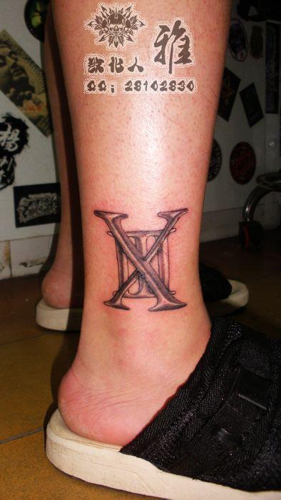 供应哈尔滨纹身罗马数字纹身字母纹身