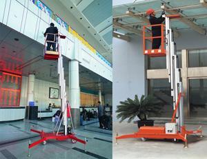 山东铝合金式升降机 液压升降平台单柱批发 升降机生产厂家