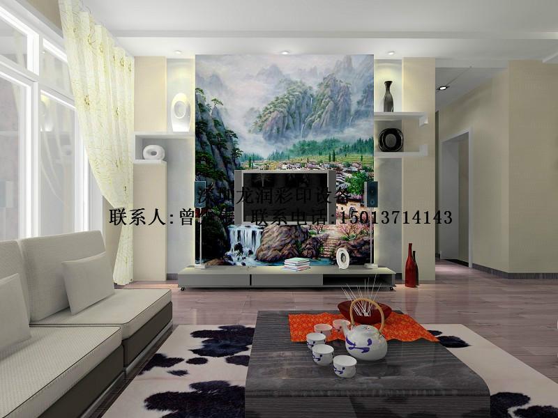 平板喷绘机图片 平板喷绘机样板图 瓷砖背景墙uv 平板喷绘