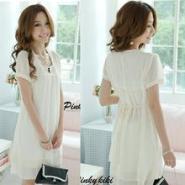 韩版夏季女装新款修身纽扣短裙图片