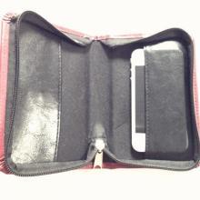 上海皮具厂供应pu拉链包手拿包钱包