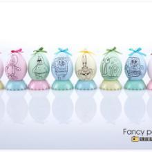 供应益智玩具DIY彩绘蛋幼儿园教育用品九款主题图案彩绘涂鸦厂家批发
