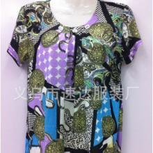 供应中老年服装女装短袖T恤