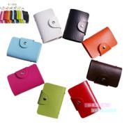 厂家直销供应 仿真皮银行卡包 信用卡包 PU仿皮卡包批发24卡位