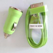 供应USB车充+Micro8pin手机数据线