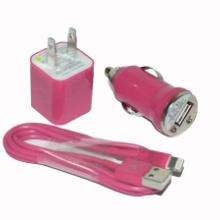 供应迷你车充美规车充+USB手机数据线