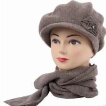 供应羊绒围巾帽子两件套