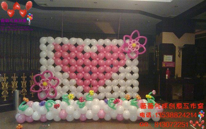 舞台背景气球布置_广州气球布置婚宴舞; 婚宴背景布置图片大全下载