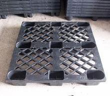供应黑色塑料托盘塑胶栈板垫仓板厂图片