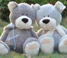 供应nici情侣熊毛绒类玩具小号玩偶熊卡通玩具灰色熊长毛公仔