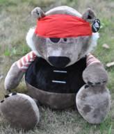 供应NICI大号海盗熊毛绒玩具加勒比海盗熊小号玩具熊公仔玩具熊