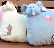 供应填充类家纺用品动物式靠垫 常州产沙发靠垫 大象缝制填充靠垫