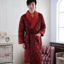 供应加厚珊瑚绒夹棉睡袍