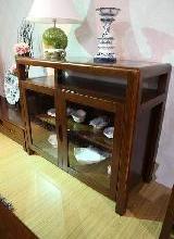 供应简约中式家具实木酒柜超大容量