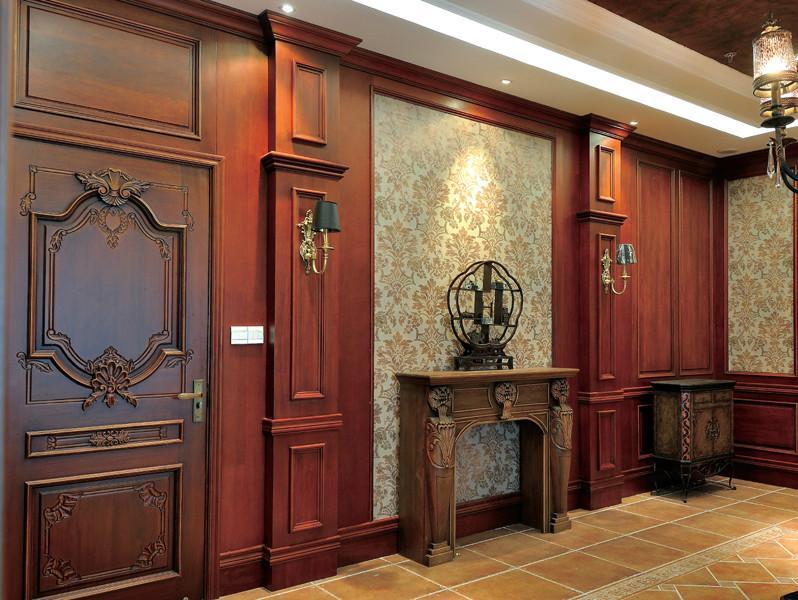 定制原木家具护墙板-护墙板背景 护墙板背景效果图 实木护墙板背景