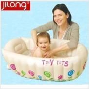 吉龙婴儿充气浴盆宝宝洗澡充气盆图片