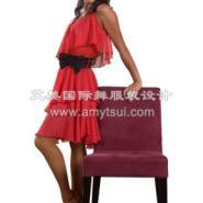 艾美舞服荷叶边吊带连体裙交谊舞裙图片